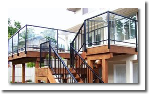 glass and picket railing system