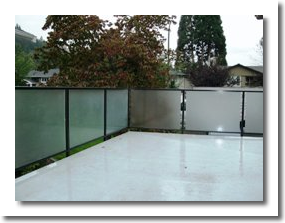 frosted glass railing system